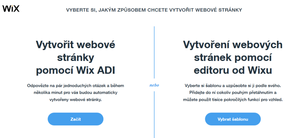 wix vytvoreni stranek zpusob