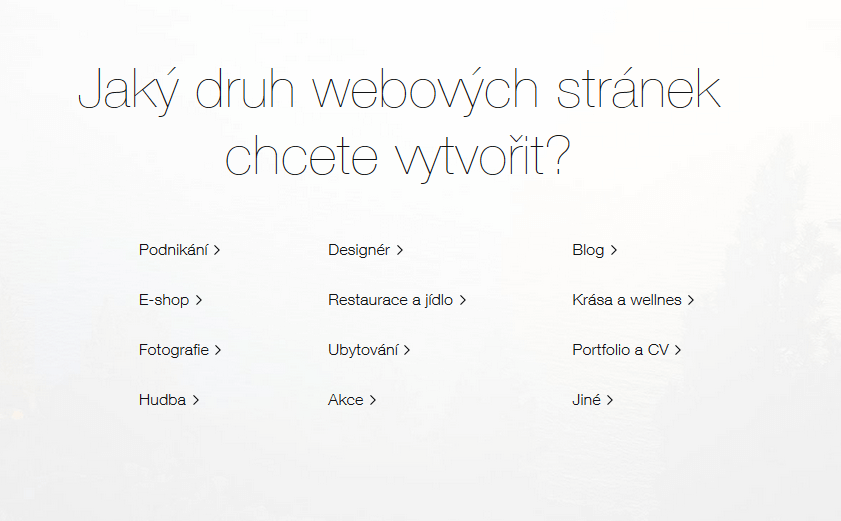 wix vytvoreni stranek